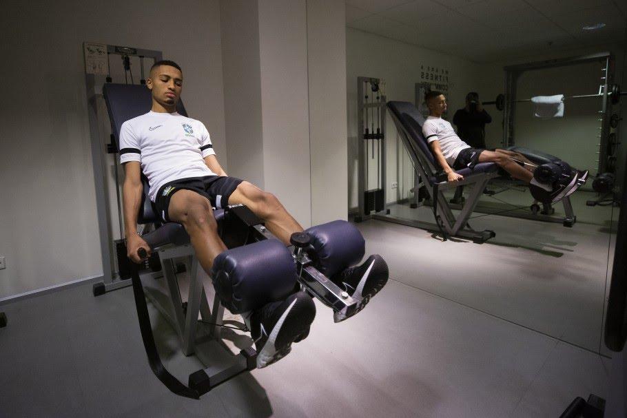 Treino de recuperação da Seleção Brasileira de Futsal em Vilnius